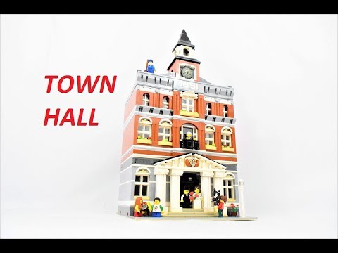 Lego Modular Town Hall 10224 Stop Motion, Build & Review!