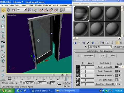 3ds max 7 basics for students modeling AEC objects and linking Lecture In Hindi/Urdu