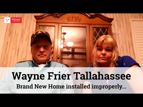Wayne Frier Homes Tallahassee Reviews - Brand New Home Installed Improperly