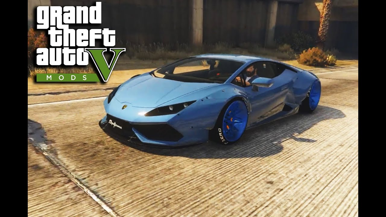 gta 5 lamborghini huracan libertywalk mod youtube. Black Bedroom Furniture Sets. Home Design Ideas