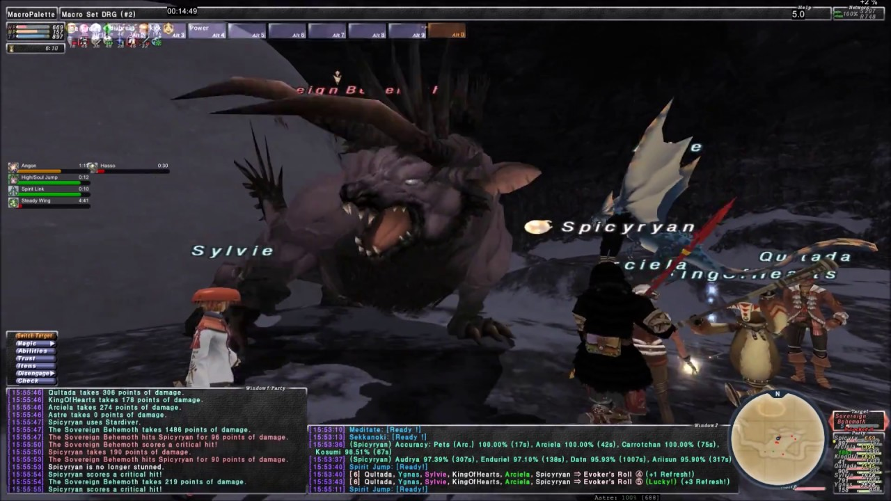 FFXI - UNM Sovereign Behemoth Solo DRG with Trusts