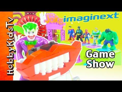Imaginext Joker Game Show! Batman Hulk Spiderman Superman Buzz Fisher Price HobbyKidsTV
