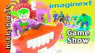 Imaginext Game Show! Batman, Hulk + Superman Play HobbyKidsTV