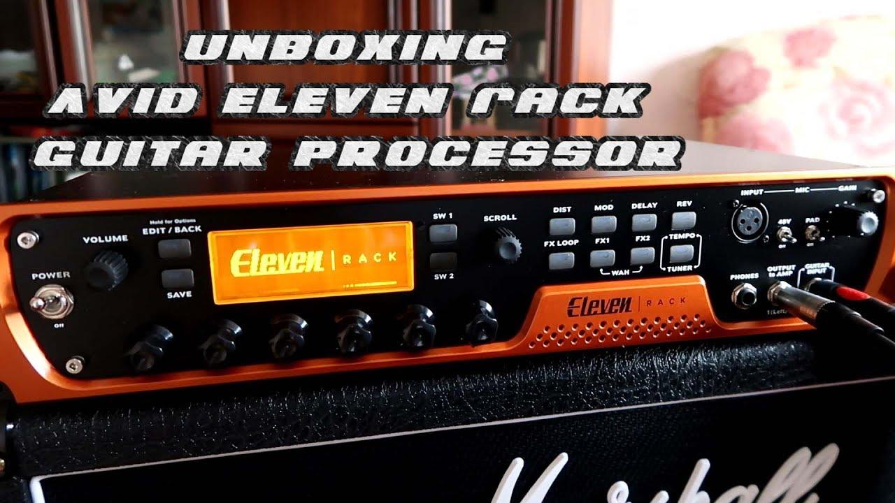 unboxing avid eleven rack guitar processor youtube. Black Bedroom Furniture Sets. Home Design Ideas