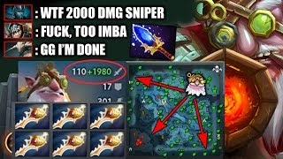 EBOLA/AIDS 2000 DMG Sniper AoE Aghanim's MEGACREEP Defense EPIC 7.20 Dota 2