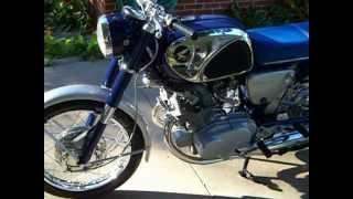 1966 Honda CB77 start