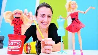 Barbie kız oyunları. Sevcan Barbie ve Steffie için Uğurböceği kostümü yapıyor