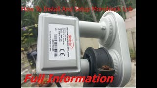 How to use and installation Monoblock LNB in hindi