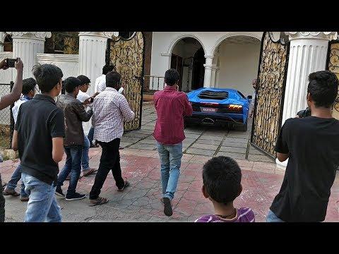 Lamborghini Aventador S Crazy Reactions - INDIA(Hyderabad)