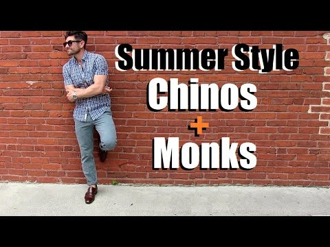 Men's Summer Style | How To Wear Double Monks & Chinos 4 Ways For Summer
