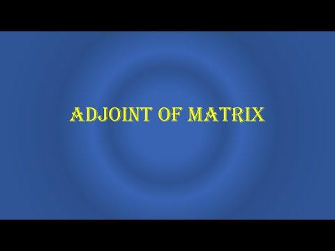 Adjoint of Matrix