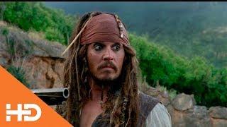 Джек Воробей прыгает со скалы ✦ Пираты Карибского моря: На странных берегах (2011)