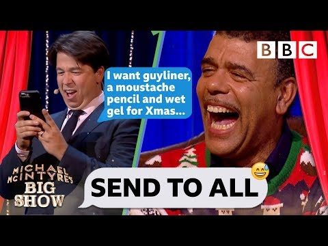 UNBELIEVABLE JEFF! Chris Kamara can't handle Michael's hilarious Christmas text 🎅😂 - Send To All