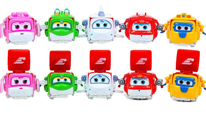 슈퍼윙스 플립 호기,도니,샛별,미나,아리와 함께 변신장난감놀이! Super Wings Toys - 골드랜드토이