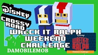 ★ DISNEY CROSSY ROAD Secret Characters | BLUE RACER and TURBO (WRECK IT RALPH WEEKEND CHALLENGE)