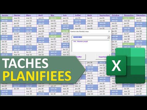 Gérer les rendez-vous dans un planning Excel