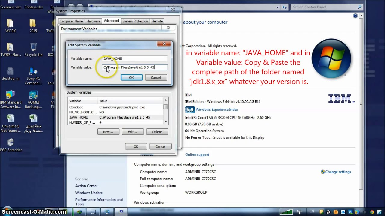 java machine launcher error could not open