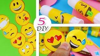 DIY Emoji ЯРКИЕ ЛЕГКИЕ КРЕАТИВНЫЕ ИДЕИ ДЛЯ ШКОЛЫ ПРАКТИЧЕСКИ ИЗ НИЧЕГО