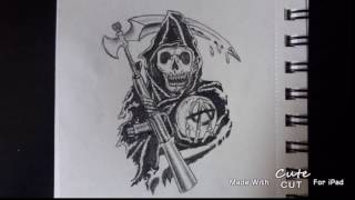 SONS OF ANARCHY| reaper drawing