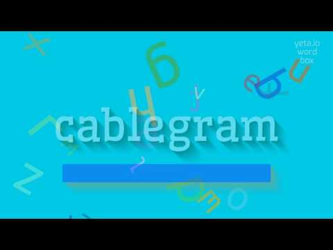 """How to say """"cablegram""""! (High Quality Voices)"""