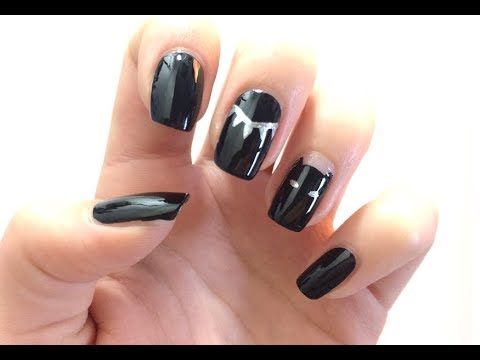 marvel black panther nail art