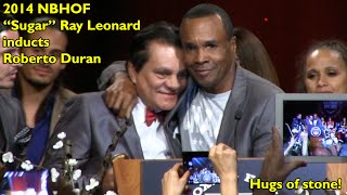 2014 NVBHOF: Sugar Ray Leonard inducts Roberto Duran