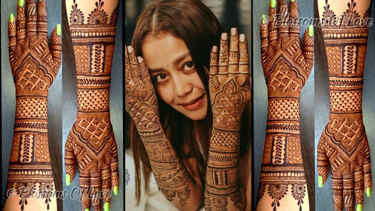 Neha Kakkar Wedding Mehndi Design's Inspired Bridal Mehendi Design Neha  Kakkar Wedding Mehndi Design