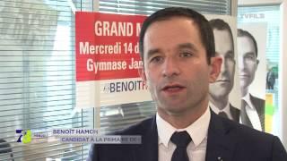 Primaire : Benoit Hamon attentif à son score dans les Yvelines
