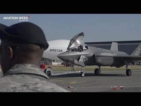 F-35 Aerial Display At The Paris Air Show