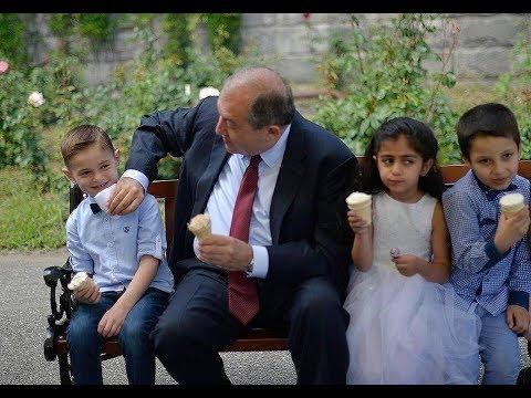 Ինչպես երեխաները «գրավեցին» նախագահի նստավայրը և Արմեն Սարգսյանին «ստիպեցին» պաղպաղակ ուտել
