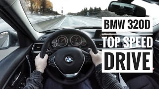 BMW 320d (2017) - POV on german Autobahn - Top Speed Drive