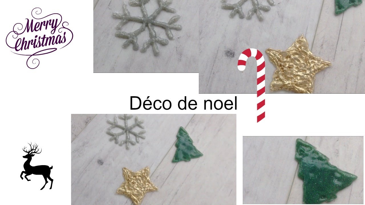diy décoration de noël avec pistolet à colle 🎅🏻 - youtube