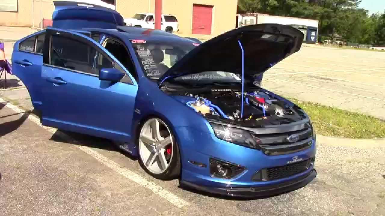Ford Fusion With Unique Carbon Fiber Lip Spoiler Youtube