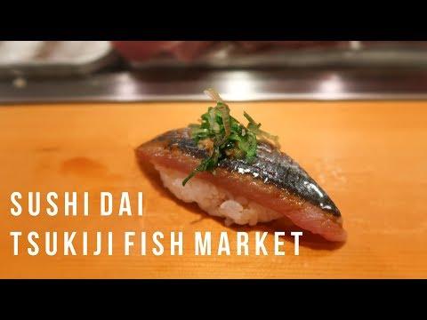 Omakase Sushi Dai Guide In Tsukiji Fish Market - Vlog #030