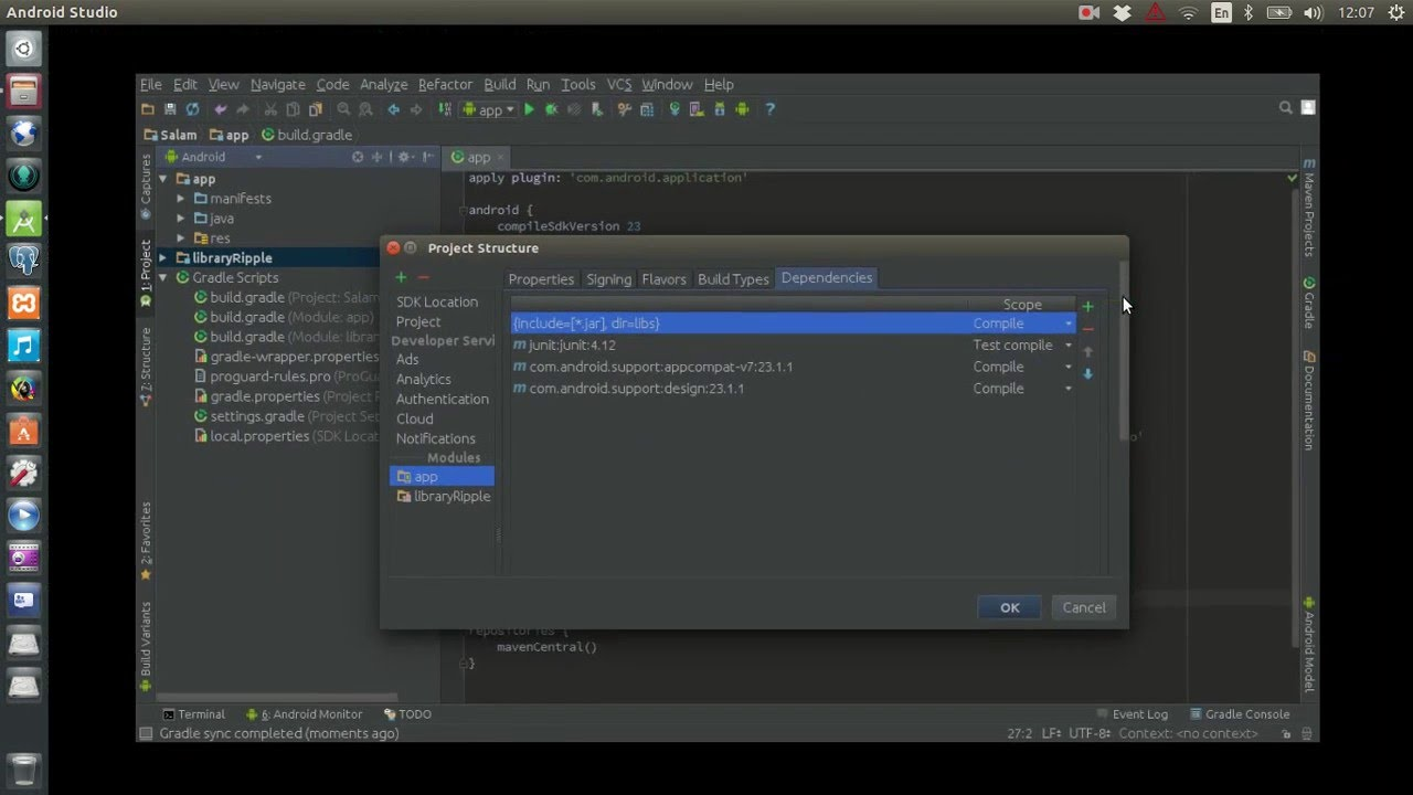 Android Studio - Import Library Project