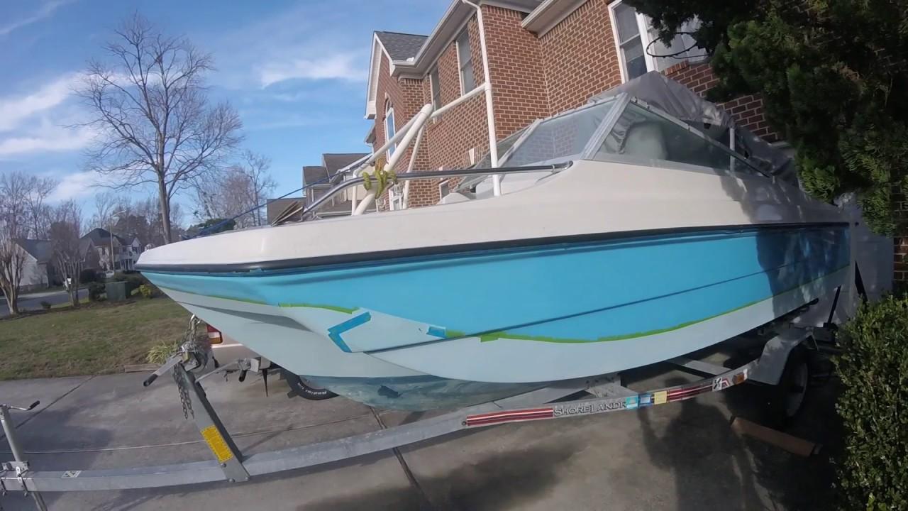Boat Restoration Sanding Thunderbird Tri Hull Sunny Daze