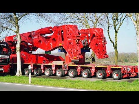 Schwertransport: Umbau der 600 t Seitenträgerbrücke | Kahl Schwerlast