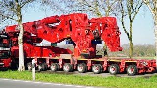 Schwertransport: Umbau der 600 t Seitenträgerbrücke   Kahl Schwerlast