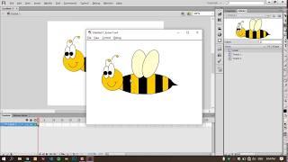Tutorial lebah cantik bergerak menggunakan adobe flash