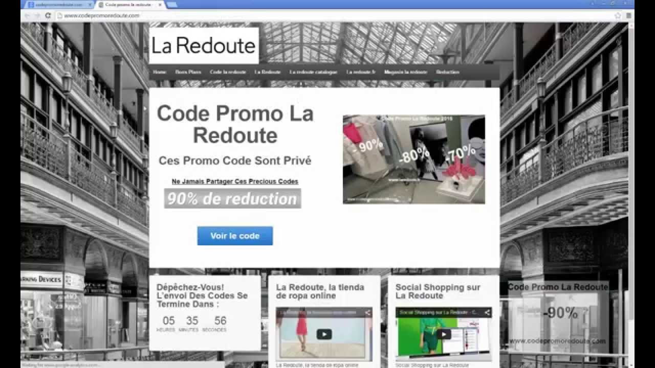 Code promo la redoute code r duction la redoute 2015 youtube - Code promo la redoute maison ...