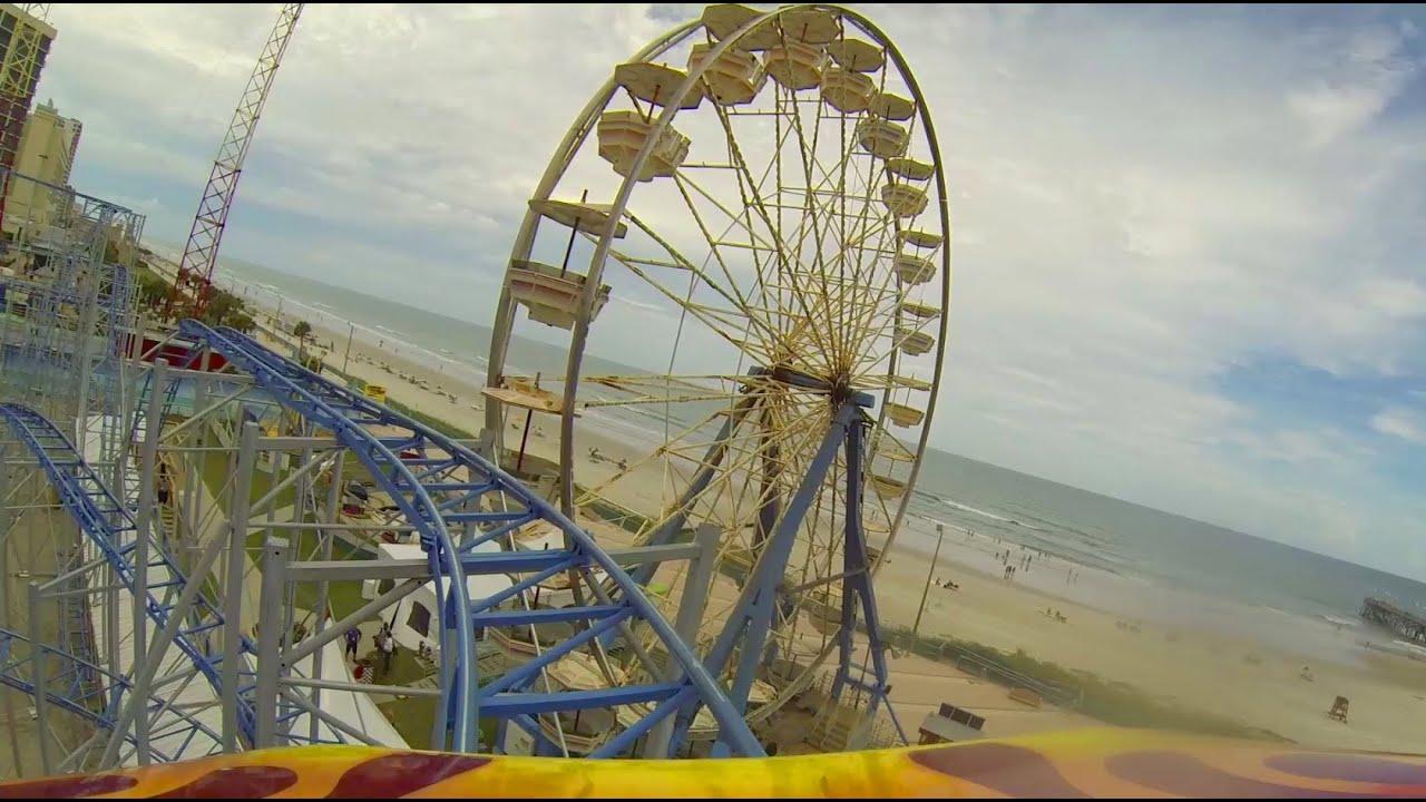 Sand Blaster Roller Coaster Pov Daytona Beach Boardwalk Joyland Amuts Florida
