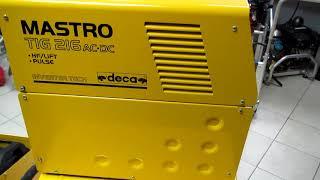 Обзор сварочного аппарата инверторного типа (welding machine) DECA TIG MASTROTIG 216 TIG