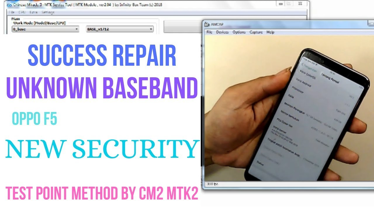 OPPO F5 CPH1723 ( NEW SECURITY ) REPAIR UNKNOW BASEBAND || TEST POINT  METHOD || BY CM2MT2