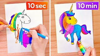 COOL ART TRICKS AND DRAWING HACKS || Easy And Cool Art Hacks by 123 GO Like!