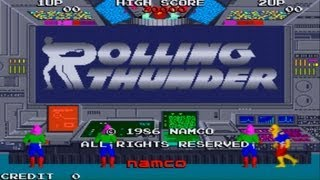 Rolling Thunder 1 Arcade Gameplay Playthrough longplay