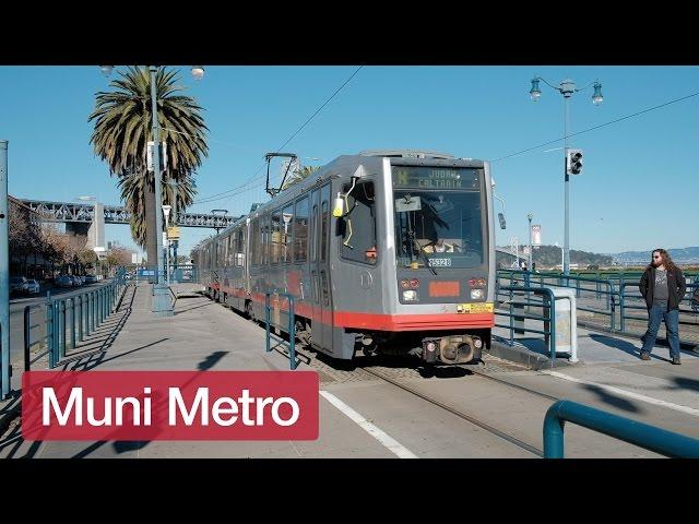 San Francisco Muni Metro Trains in Winter