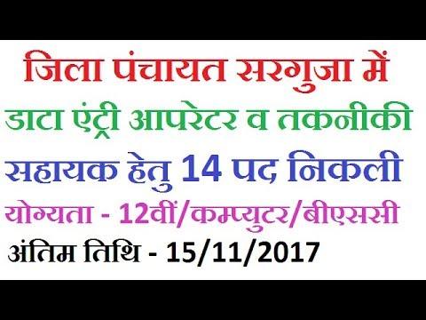 Zila Panchayat Surguja Recruitment 2017