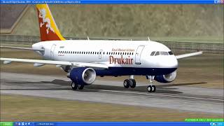 Flying at Paro Airport in Bhutan in FS2004 | Trusting only instincts is necessary