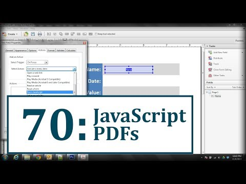 PDFs: Use JavaScript to Clear Default Text