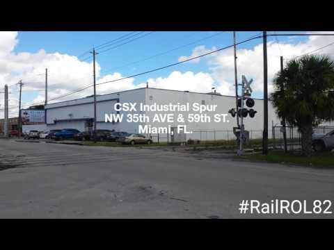 CSX Railroad Industrial Spur Miami, FL.